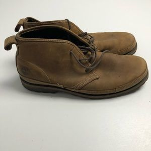 Timerbland Leather Upper Green Rubber Boots